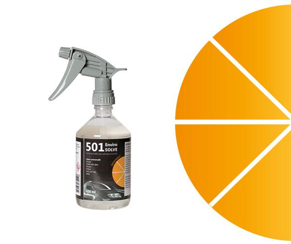 citrusbaserade lösningsmedel. 100 % naturlig, biologiskt nedbrytbar råvara.